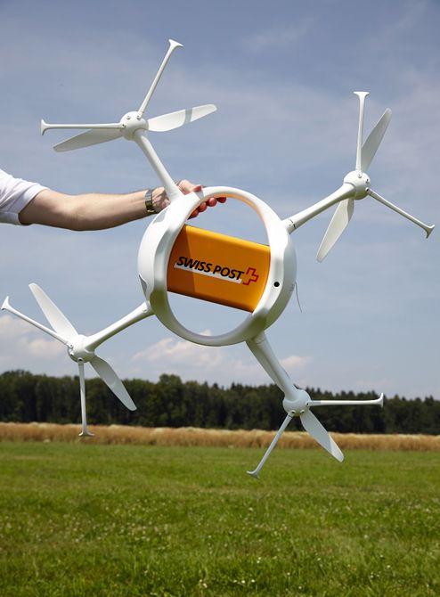 没人跑腿也能送货:瑞士试飞货运无人机2