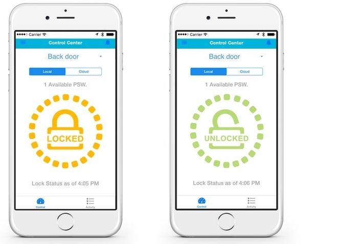 BLUEGUARD-E智能锁,门锁和手机自动组成cp2