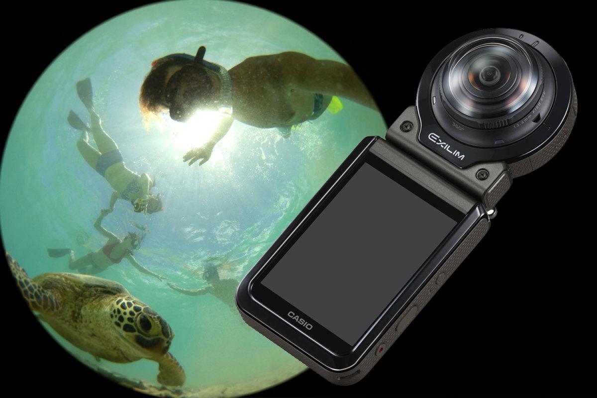 针对户外探险爱好者,卡西欧推出EX-FR200全景相机