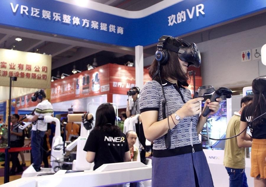 玖的VR硬件力作第九星球与内容巨献《V战》重磅亮相GTI广州展
