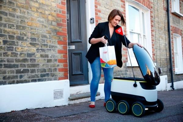 英国Just Eat自动驾驶机器人的外卖系统上线