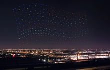 """美国""""超级碗""""大秀黑科技,数百架无人机点亮夜空"""