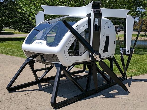 """这款无人机的士,可以在没油的时候把你""""弹""""出去"""
