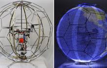 日本研发圆滚滚的球形无人机,被LED屏团团包围
