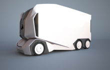 自驾电动卡车T-Pod建成全尺寸原型,由瑞典科创公司Einride打造