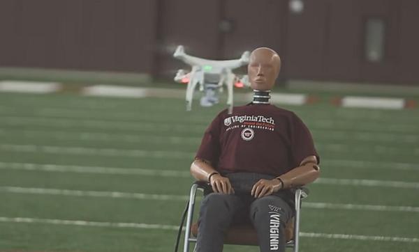 无人机撞脸实验,2.6磅以上无人机确定为不安全飞行物