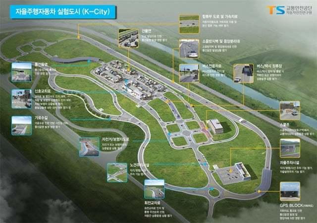 """为了自动驾驶的商业化,韩国建造了一个新的""""城市"""""""