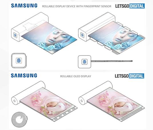 三星申请新专利:用指纹解锁,让显示屏像画轴一样自由伸缩