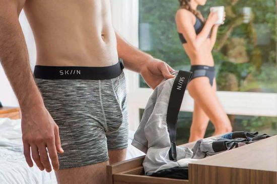 有了SKIIN智能内裤,可随时监测身体健康状况