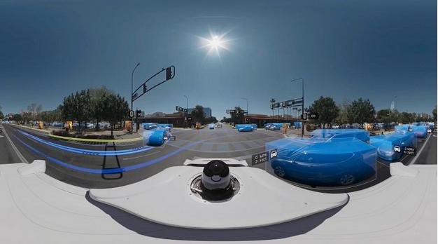 谷歌发布360度全景视频,庆祝自动驾驶测试里程突破500英里