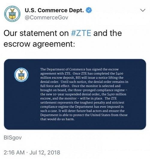 外媒称美国对中兴禁令即将解除;Alphabet拆分并独立无人机和联网气球项目
