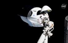 """试飞成功的""""龙""""飞船即将返回地球,计划于7月进行真人飞行"""