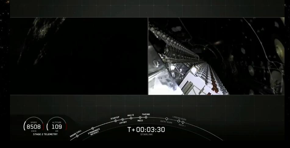 """马斯克""""占地""""成功!想成为通信商的SpaceX成功发射""""星链""""首批60颗卫星"""